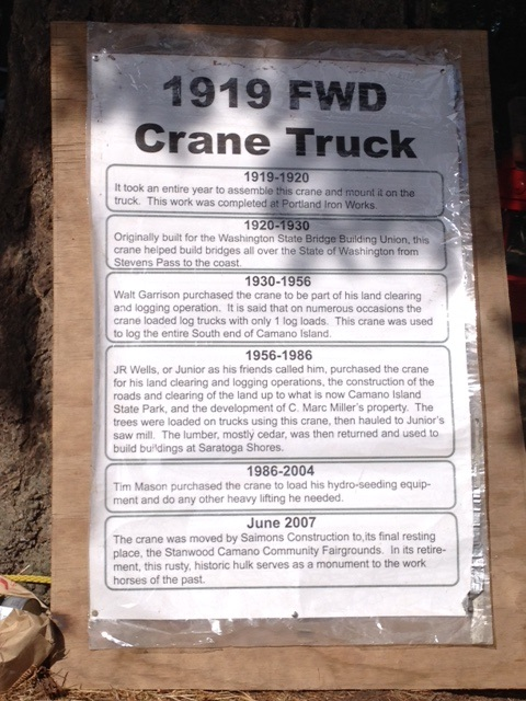 1919 Crane Truck Story