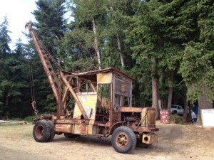 1919 Crane Truck on display at the Stanwood Camano Community Fairgrounds.
