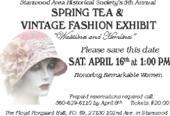 Spring Tea and Vintage Fashion Show April 16th