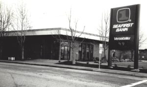 1995 View of Stanwood's 100 year banking corner.