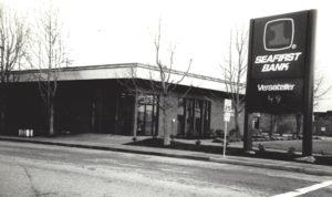 1995 View of Stanwood's 100 year banking corner.