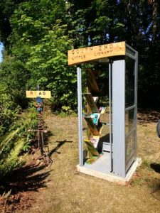 Little Library in the telephone booth, South End Camano Island
