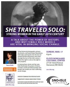 Program She Traveled Solo March 17 Floyd Norgaard Cultural Center